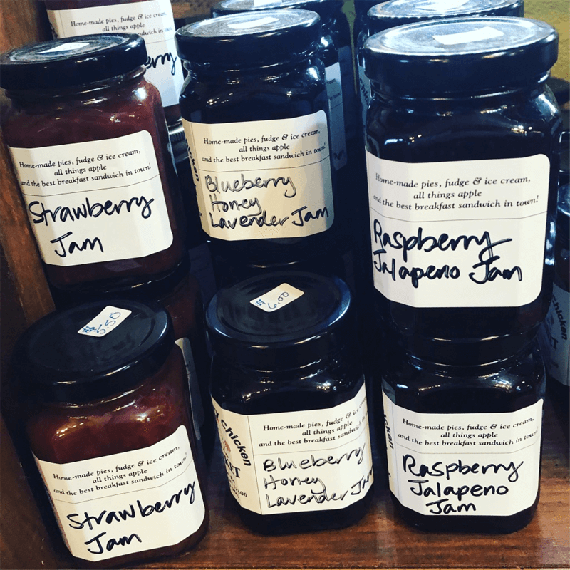 The Hungry Chicken Country Store Home Made Jams (Strawberry, Blueberry Honey Lavender, Raspberry Jalapeno)